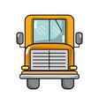 yellow school bus to children transportation vector image