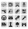 Gaming Gadgets Black vector image