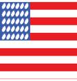 usa football flag 2 vector image vector image