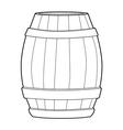 wooden barrel vector image vector image