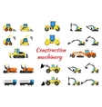 Set construction equipment vector image