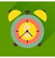 Flat icon with long shadow alarm clock money vector image