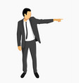 businessman in jacket points vector image
