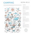 Camping Vertical Infographic vector image