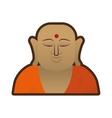 head buddha faith thai god vector image