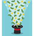 magical appearance of money and wealth vector image