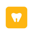 milk tooth flat color icon baby items for vector image