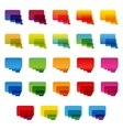 Rainbow colorful transparent rounded rectangle vector image