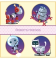 Robot dog beetle astronaut and cat with mouse vector image