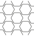 Seamless pattern with black hexagons vector image