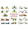 Set construction equipment vector image