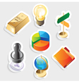 Sticker icon set for business vector image