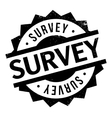 Survey rubber stamp vector image