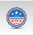 usa independence day circle emblem vector image