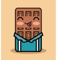 chocolate bar kawaii icon design vector image