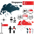 Singapore map vector image vector image