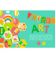 themed kids art poster vector image