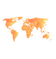 orange political map of world each state with own vector image