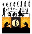 evolution of the person vector image vector image