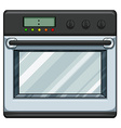 Electronic oven vector image vector image