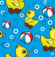 Rubber duck pattern background vector image
