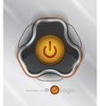futuristic power button vector image