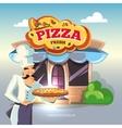 Facade of pizzeria vector image