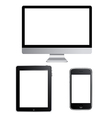 Set Of Contemporary Gadgets vector image