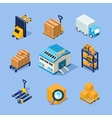 Warehouse Equipment vector image