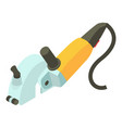 yellow electric sander icon isometric 3d style vector image