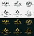 Heraldic Royal Luxurious Crest Logos Set 1 vector image