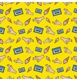 Hands OK Tape and Ice Cream Seamless Pattern vector image
