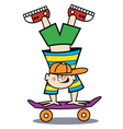 Boy on a skateboard vector image vector image