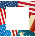 Independence Day flag card vector image