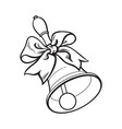 traditional school bell with ribbon bow vector image