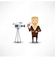 journalist said on camera vector image