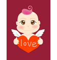 angel love vector image vector image