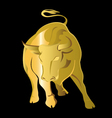 gold bull vector image