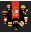 Fast food menu in flat style vector image