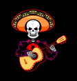 Mariachi guitar player vector image
