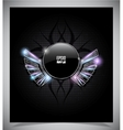 Abstraction dark background with wings vector image