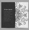 Black and white mandala invitation vector image