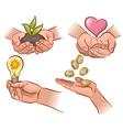 Ecology economy health vector image