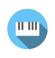 Piano keys flat icon vector image