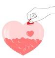 piggy bank heart vector image