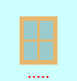 window set it is color icon vector image