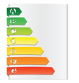 energy rating elements vector image vector image