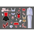 Woman clothing set vector image