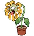 Sunflower sad vector image