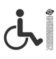disabled person icon with people bonus vector image